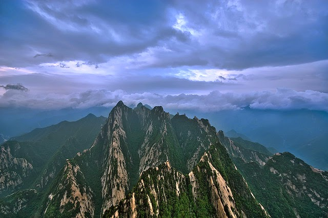 Photo du mont Hua en Chine