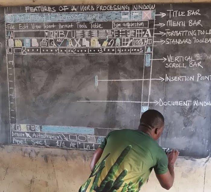 Il professore che insegna Word senza computer