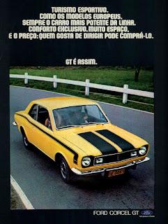 propaganda Ford Corcel GT - 1973, , Ford Willys anos 70, carro antigo Ford, década de 70, anos 70, Oswaldo Hernandez,