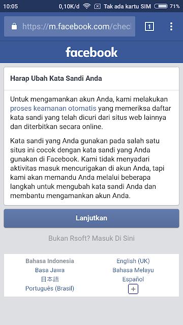 akun facebook selalu minta verifikasi