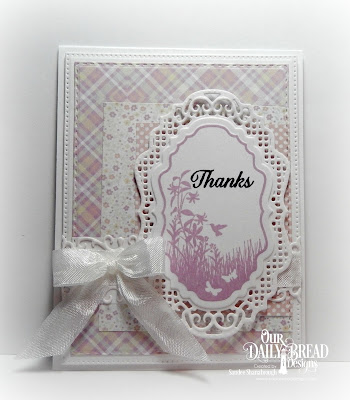 Our Daily Bread Designs Stamp Set: Vintage Bird Labels, Our Daily Bread Designs Custom Dies: Vintage Labels, Vintage Borders, Flower Lattice, Pierced Rectangle, Double Stitched Rectangles, Our Daily Bread Designs Paper Collections: Easter Card Collection, Pastel Paper