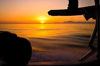 Puesta de Sol Estrecho Meditarráneo