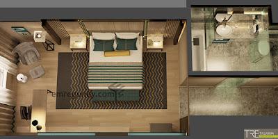 hotel room plan
