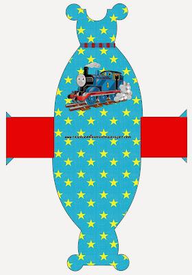 Thomas the Train Free Printable Dress Box.