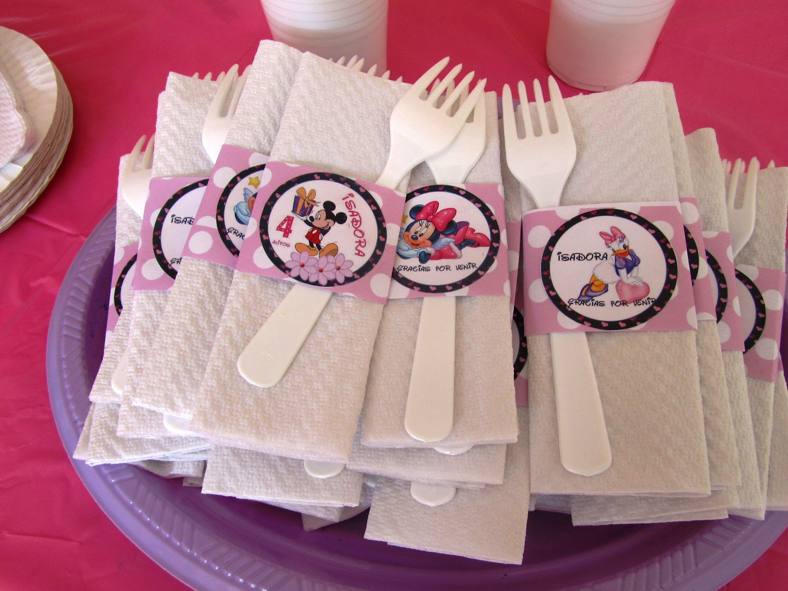 Eventos Para Tu Bebe Complementos Decoracion Cumpleanos Minnie Y Mickey - Adornos-de-minnie-para-cumpleaos