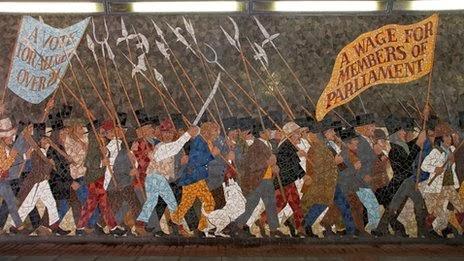 Teifidancer destruction of chartist mural for Chartist mural newport