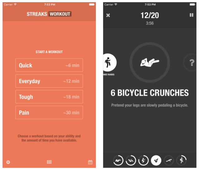 Download Streaks Workout, the personal trainer that you actually want to use for your fitness