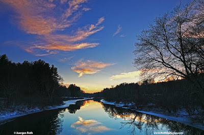 Beautiful New England sunset photography from the Charles River in Dover Massachusetts