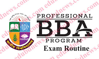 National University BBA (Professional) New and  Old syllabus First Year 1st semester Exam Routine in 2018