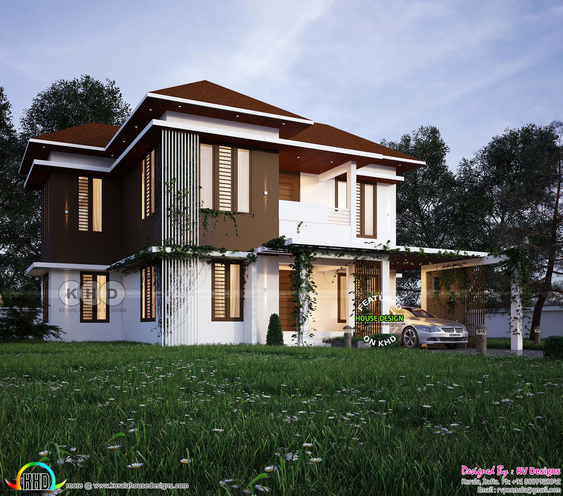 4 bhk 2273 square feet modern home design kerala home for 4 bhk home design