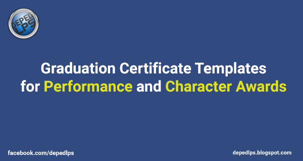 New Certificate Templates for Performance & Character Awards - DepEd ...