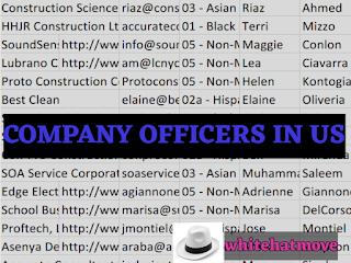 USA Company Officer infos
