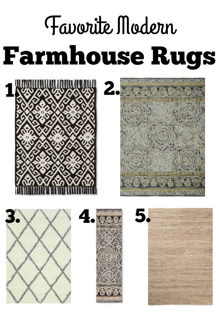 Favorite farmhouse style rugs the glam farmhouse for Farmhouse style kitchen rugs