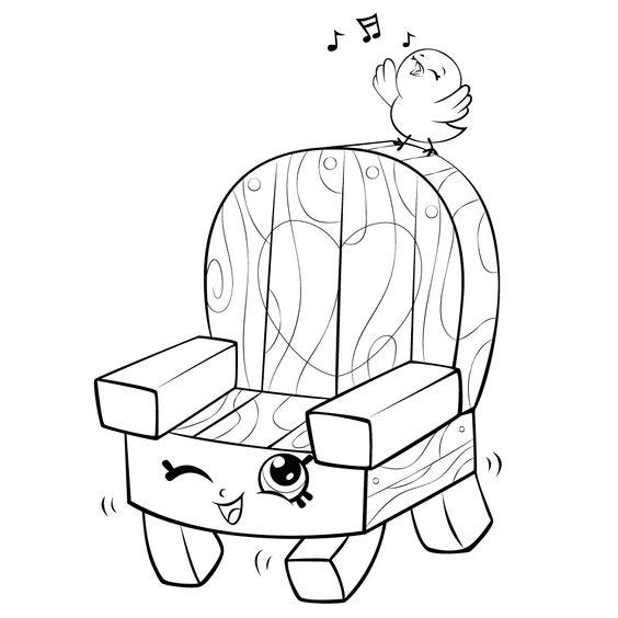Tranh tô màu cái ghế gỗ