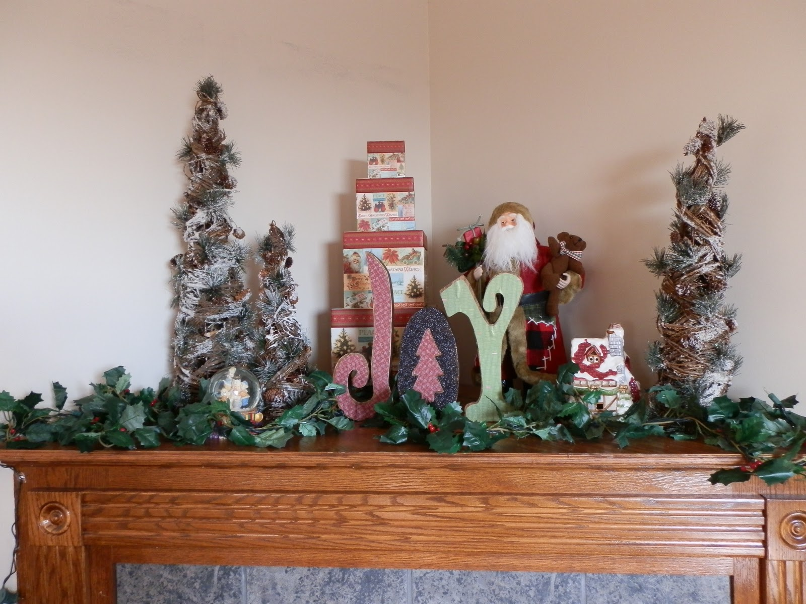Prepared LDS Family: Corner Fireplace Mantle Decorated for Christmas