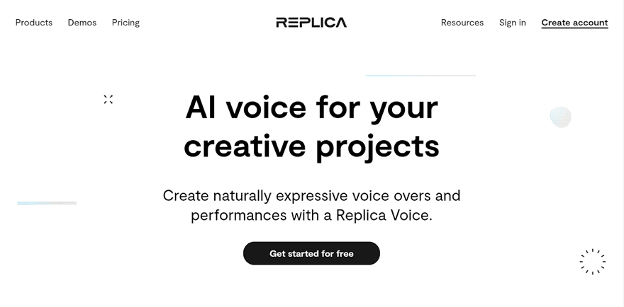 Replica Studios 真人聲音的文字轉語音服務