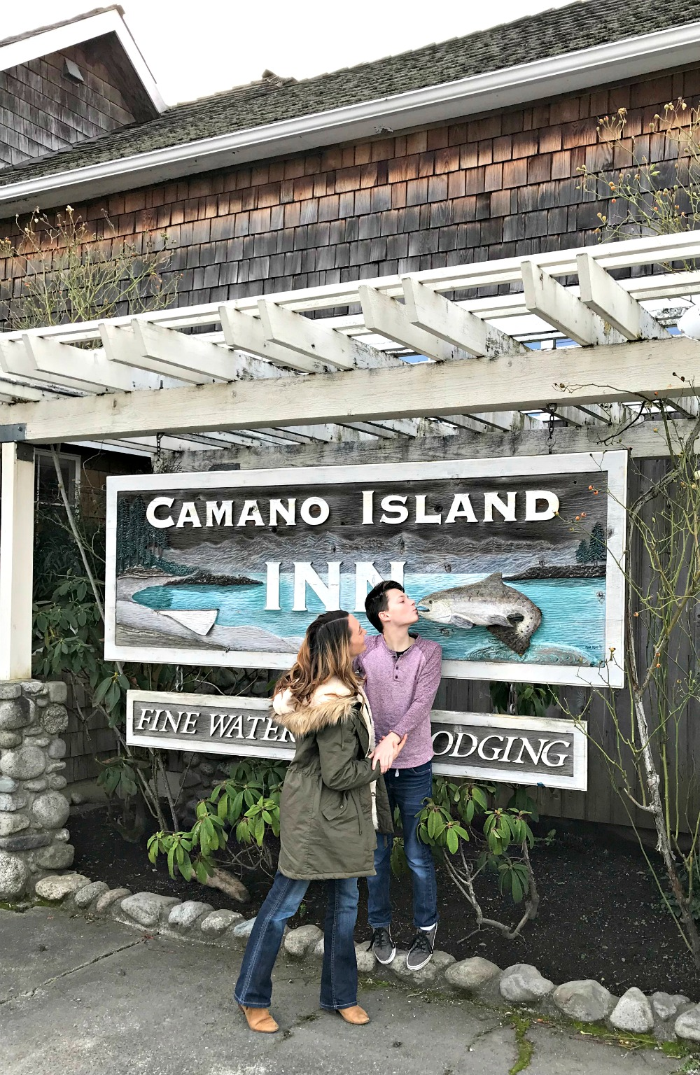 Camano Island Inn guest sign