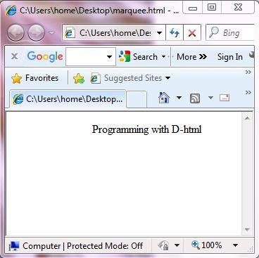 Programming with D-HTML   VB SCRIPT   JAVA SCRIPT - Tutorial