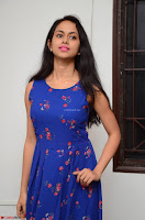 Pallavi Dora Actress in Sleeveless Blue Short dress at Prema Entha Madhuram Priyuraalu Antha Katinam teaser launch 075.jpg