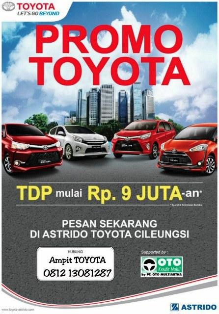 Promo Terbaru Toyota TDP 9juta lapak dealer mobil toyota terbaru cibubur cileungsi