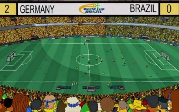 Os Simpsons até previram que a Alemanha ganharia do Brasil