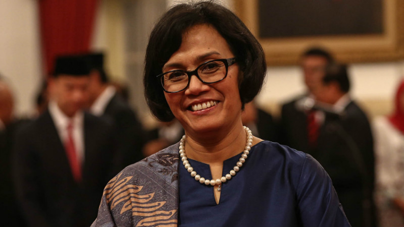Sri Mulyani usai dilantik menjadi Menteri Keuangan