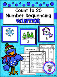 Number Sequencing Activity - Winter