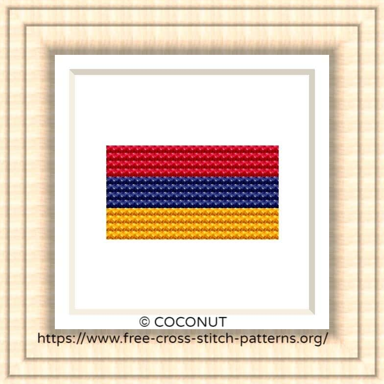 NATIONAL FLAG OF ARMENIA CROSS STITCH CHART