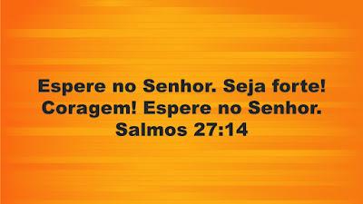 Espere no Senhor. Salmos 27:14