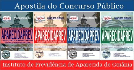 Apostila Concurso AparecidaPrev Goiânia 2018.