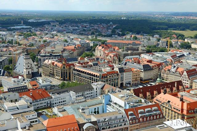 Vistas desde la torre Panorama de Leipzig