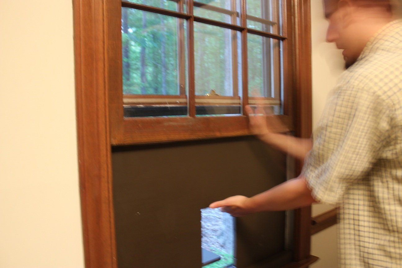 the handcrafted life how to build a custom cat door in a window