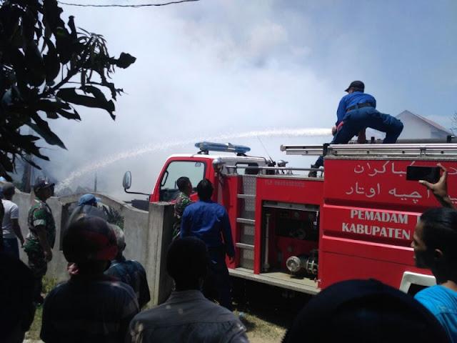 Tiga Rumah Di Kecamatan Dewantara Aceh Utara Ludes Terbakar