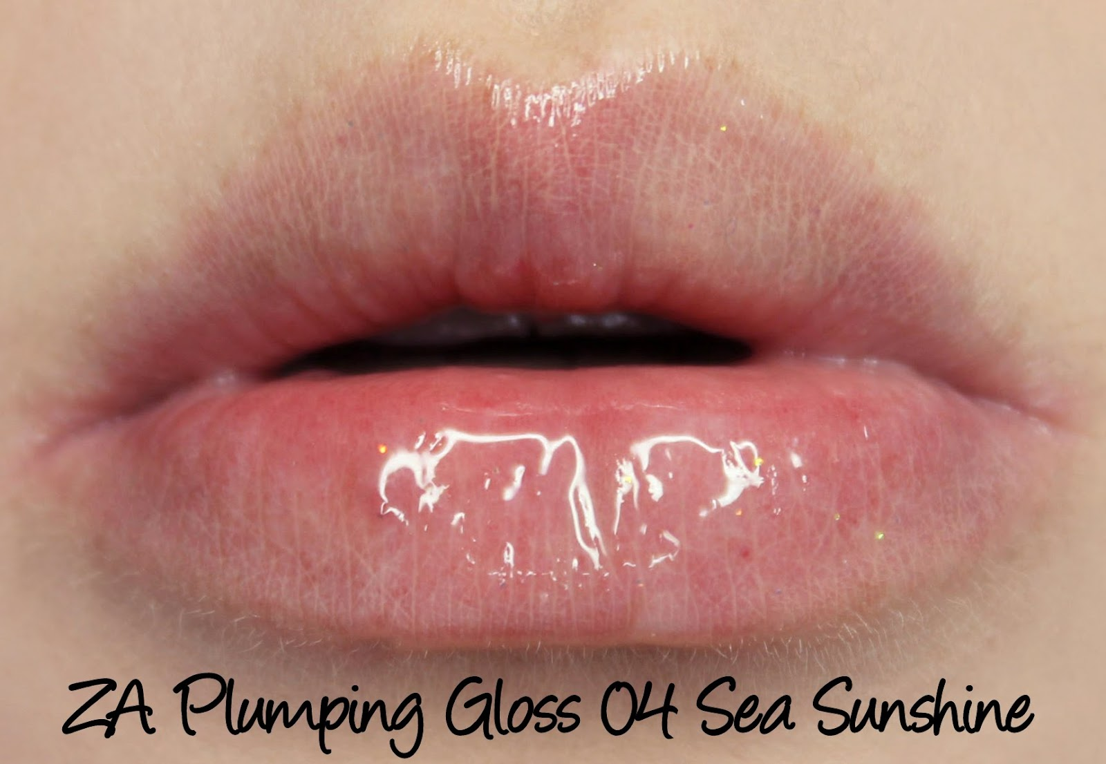 ZA Plumping Lip Gloss 04 Sea Sunshine swatch & review