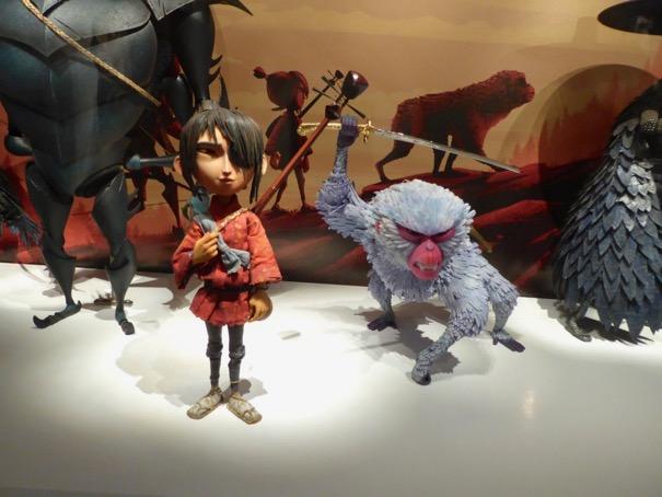 Kubo Monkey stop-motion animation puppets