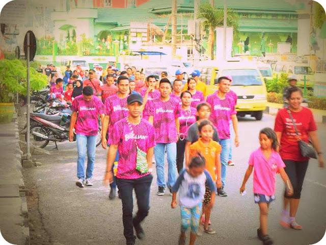 Korem 151 Ikut Partisipasi Jalan Sehat HUT Amaris Hotel Ambon