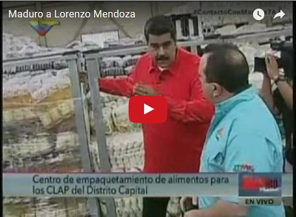 Nicolás Maduro coqueteando con Lorenzo Mendoza?