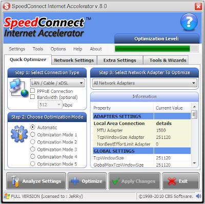 speedconnect internet accelerator v7.5 2008