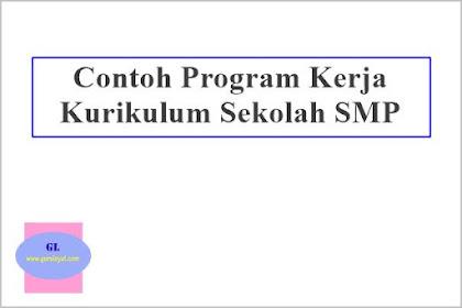 Contoh Program Kerja Kurikulum Sekolah SMP