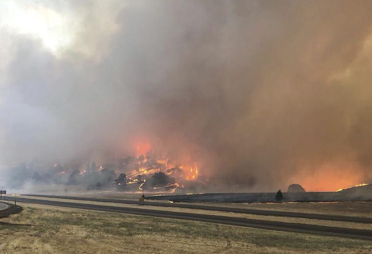 The Latest: Goleta fire burns homes in Santa Barbara County