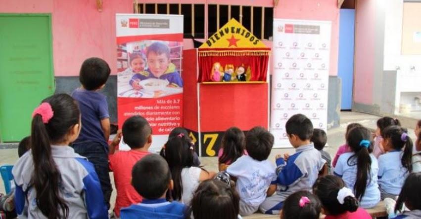 QALI WARMA: En Chimbote, colegios apuestan por educativas funciones de títeres para reafirmar hábitos de alimentación saludable en los escolares - www.qaliwarma.gob.pe