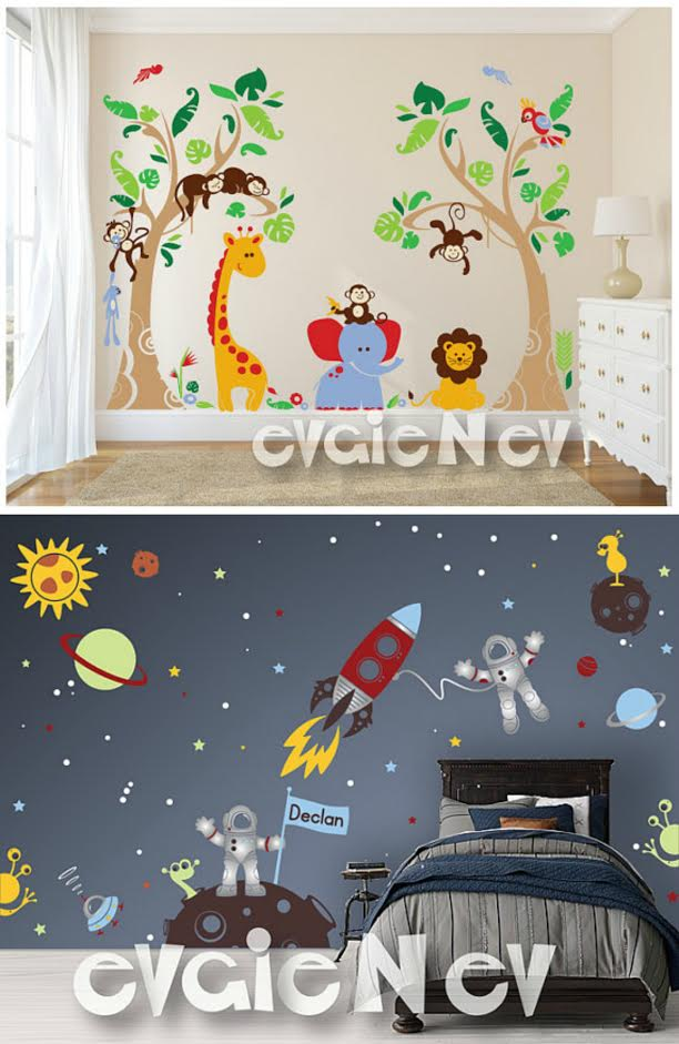 Fabulous Custom Flag Name Outer Space Wall Decals
