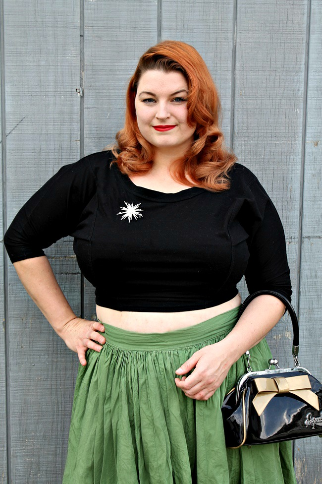 crop tops for plus size girls from va voom vintage