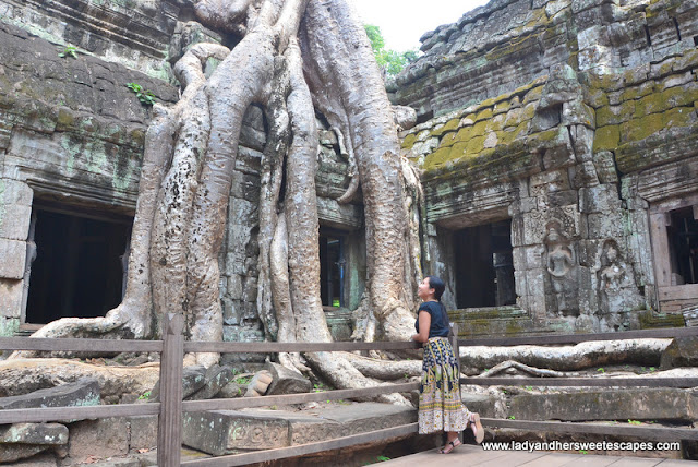 Lady in Ta Phrom Siem Reap
