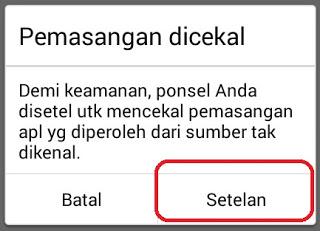Cara Mengatasi Pemasangan Aplikasi Dicekal Di Hp Android