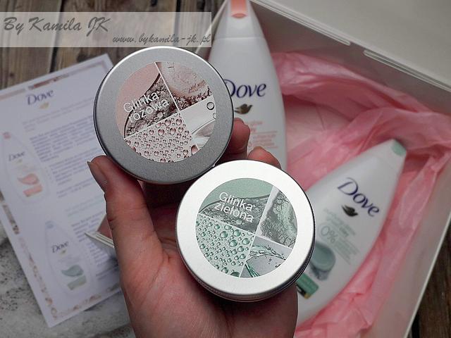 Żele Dove z glinką Renewing Glow Pink Clay Purifying Detox Green Clay zielona różowa glinka
