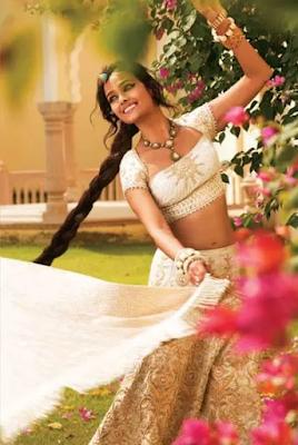Stunning Photo Of Indian Bride In Lehenga Choli Costume.