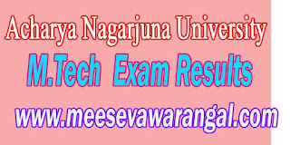 Acharya Nagarjuna University M.Tech Exam Results