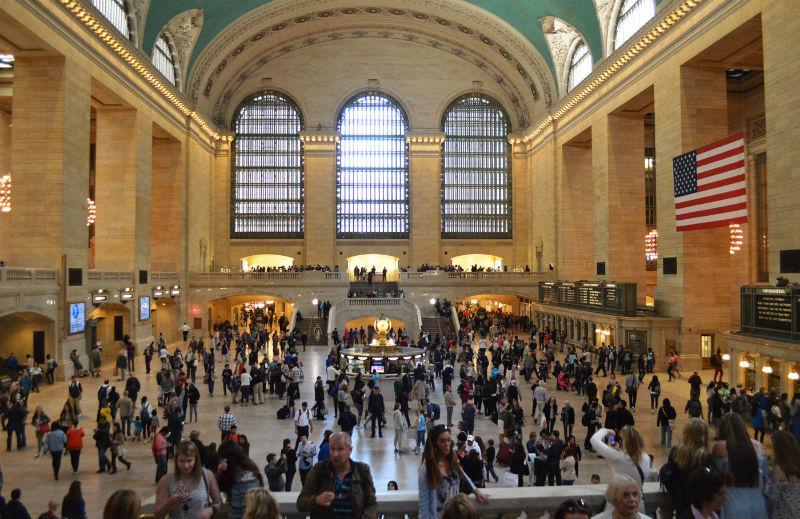 Grand Central desde la escalera del vestíbulo principal, Nueva York