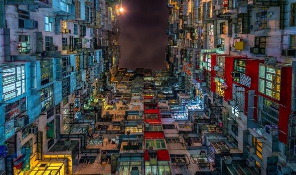 Andy Yeung fotografia urbanismo cidades prédios céu hong kong arranha-céus super população